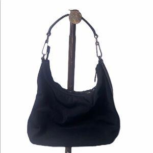 Gucci Authentic Vintage Black Canvas Shoulder Bag